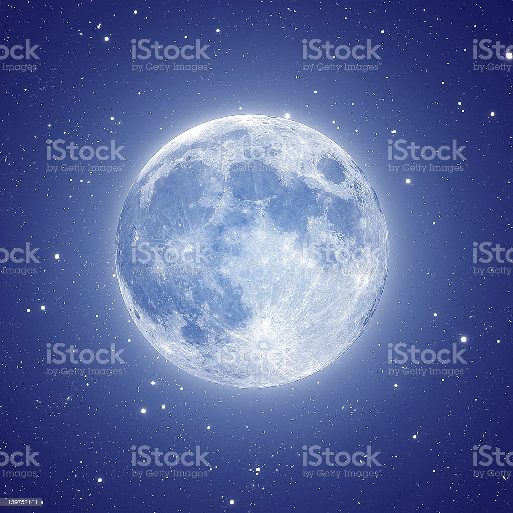 The moon stock photo