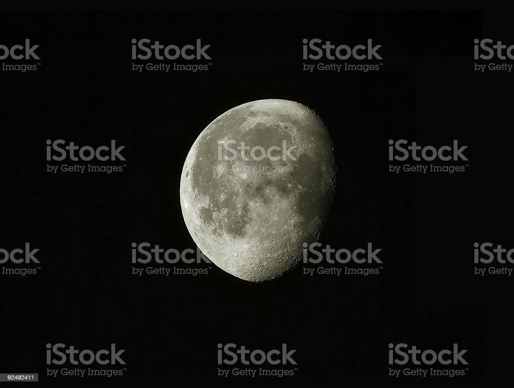 The Moon royalty-free stock photo