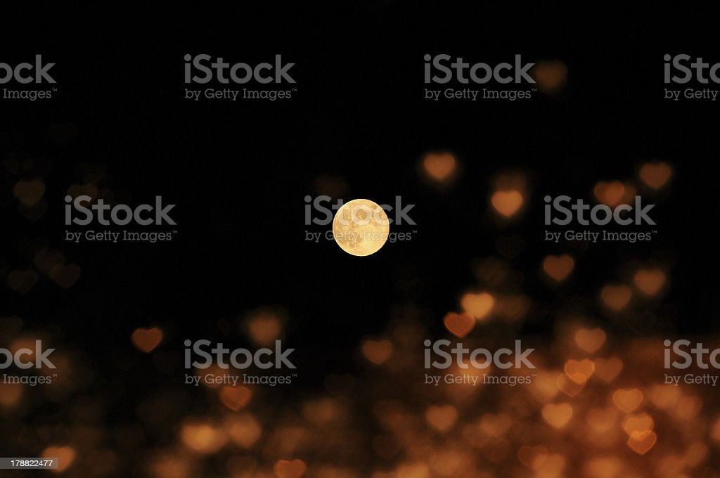The moon represents my heart royalty-free stock photo