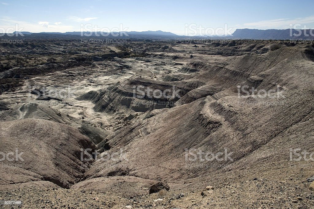 The 'moon valley' in Ischigualsto, Argentina royalty-free stock photo