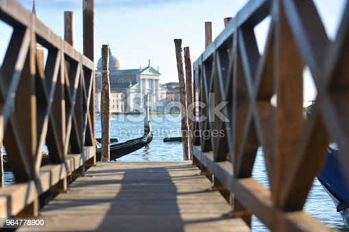 The Mooring In Piazza San Marco On The Venice Lagoon And In The Background The Island Of San Giorgio Stock Photo & More Pictures of Architecture