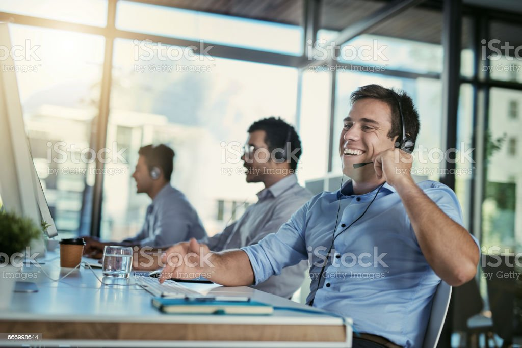 The more you sell, the more you smile stock photo