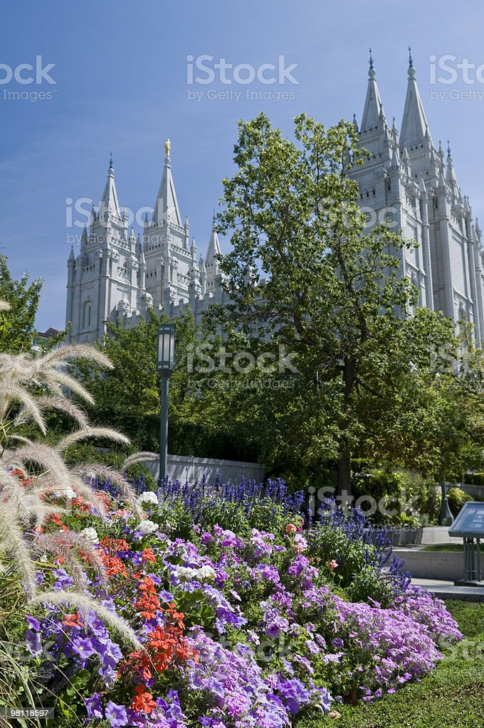 The Mormon Temple royalty-free stock photo