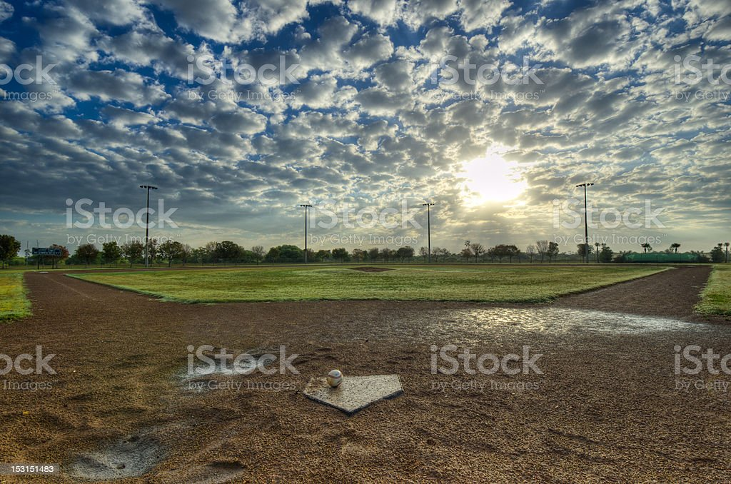 The Morning Game stock photo
