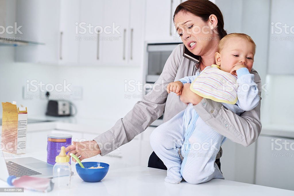 The morning rush madness stock photo