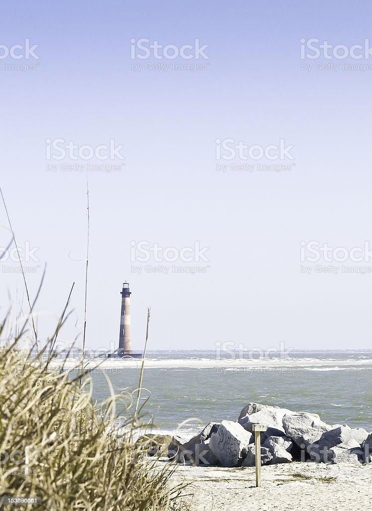The Morris Island Light stock photo