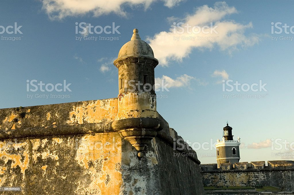 El Morro Castle. San Juan, Puerto Rico royalty-free stock photo