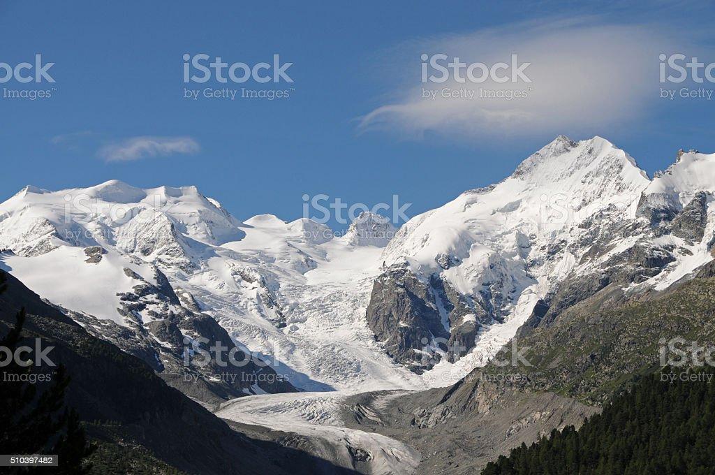 The Morteratsch glacier stock photo