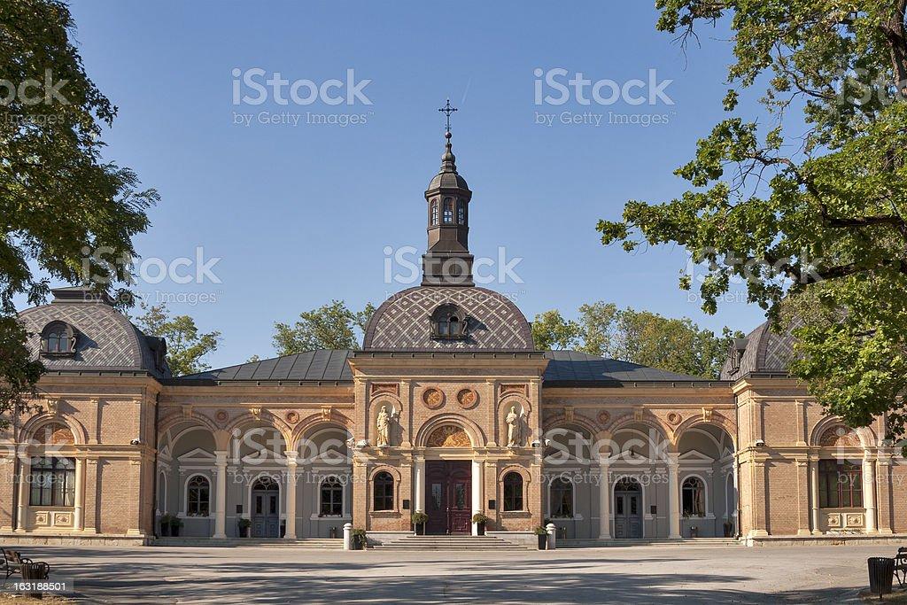 The Mortuary at Mirogoj cemetery royalty-free stock photo