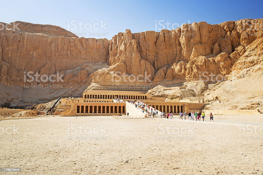 The Mortuary Temple of Queen Hatshepsut stock photo