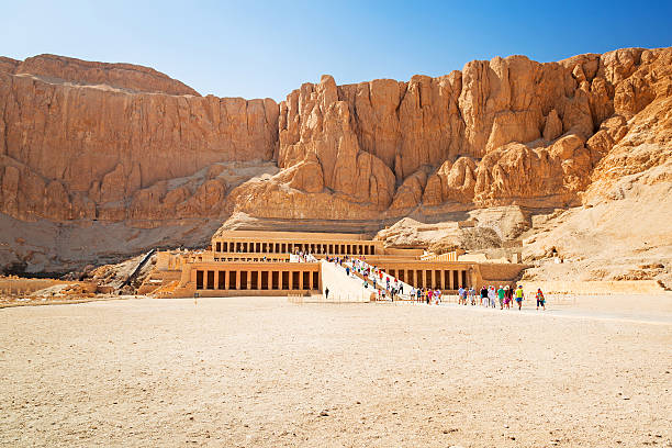 The Mortuary Temple of Queen Hatshepsut The Mortuary Temple of Queen Hatshepsut located near the Valley of the Kings in Egypt valley of the kings stock pictures, royalty-free photos & images