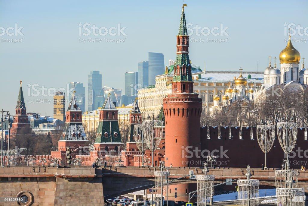The Moscow Kremlin. stock photo