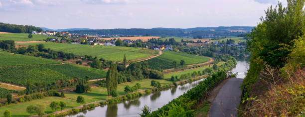 The Mosel River, Luxembourg stock photo