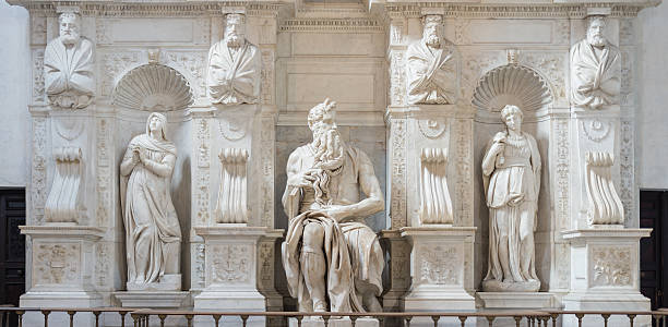 The Moses by Michelangelo, Rome, Italy stock photo