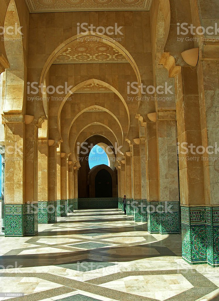 The Mosque Hassan II - Detail stock photo