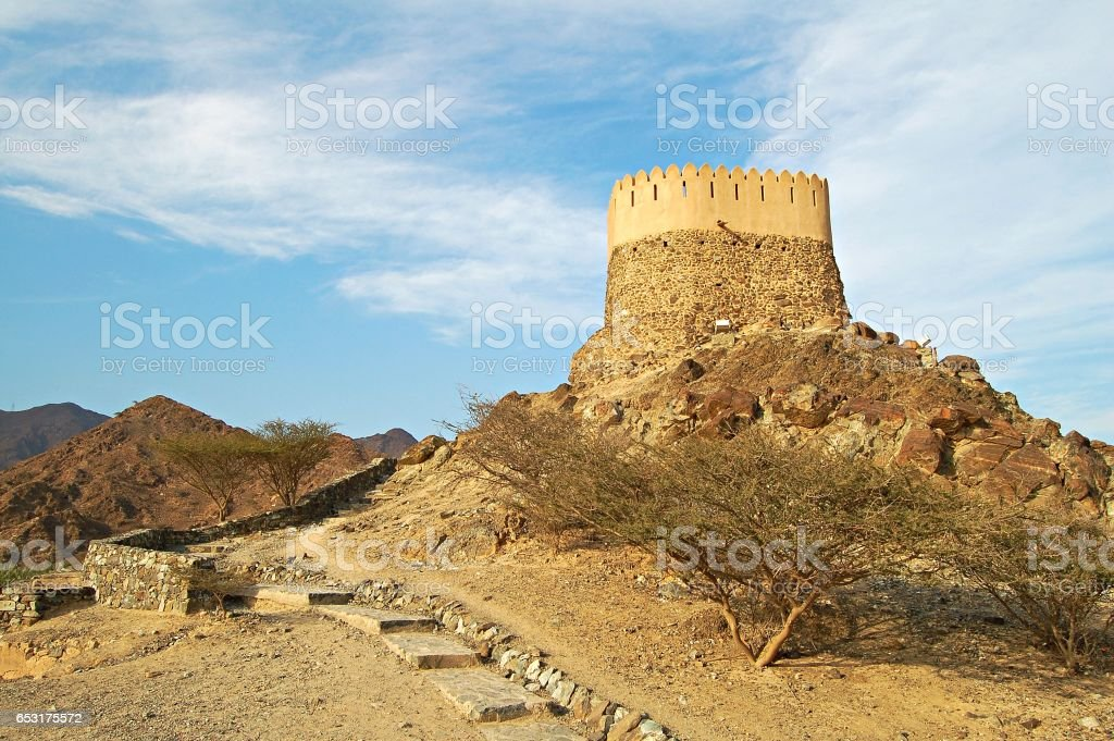 The mosque in Bidiyah is the oldest in the UAE stock photo