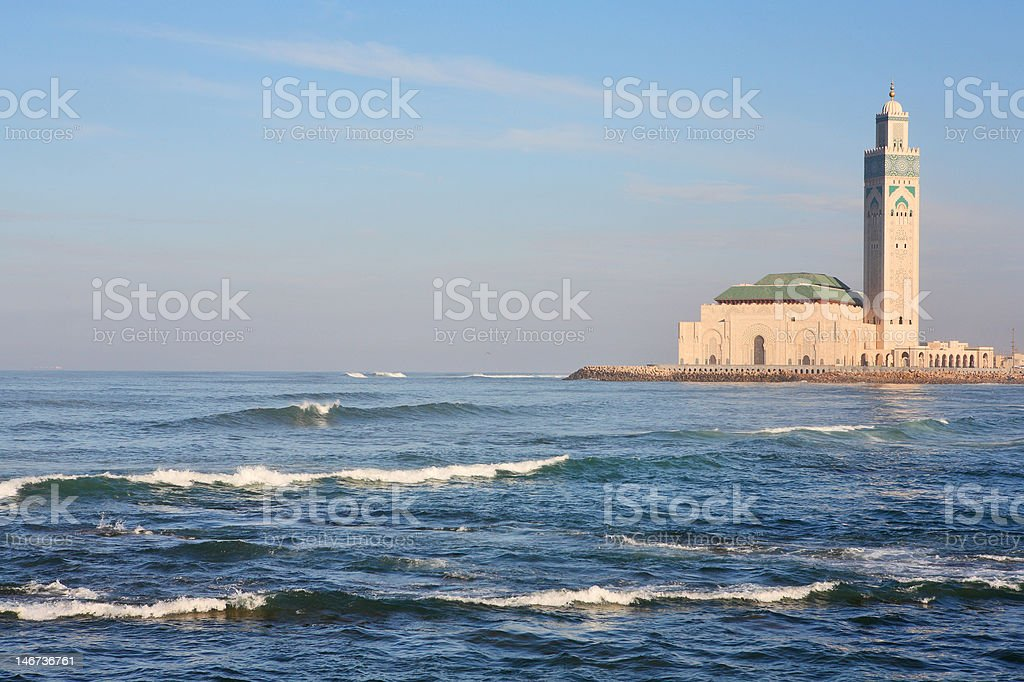 The Mosque of Hassan II in Casablanca royalty-free stock photo