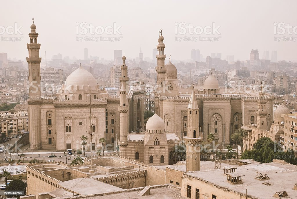 The Mosque of Sultan Hassan in Cairo, Egypt Africa stock photo