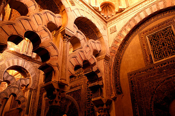 la mezquita arches of la mezquita de cordoba cordoba mosque stock pictures, royalty-free photos & images