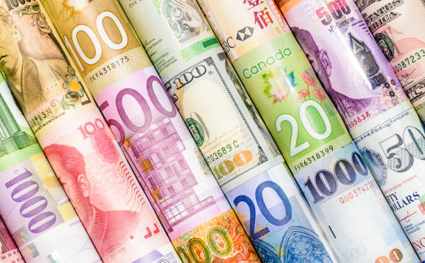 The most beautiful backgrounds with currency banknots stock photo