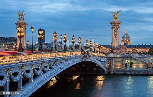 istock The Most Beautiful Bridge of Paris. 498836224
