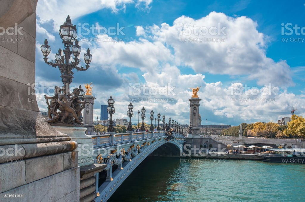 Paris - France, Avenue des Champs-Elysees, Europe, Pont Alexandre...