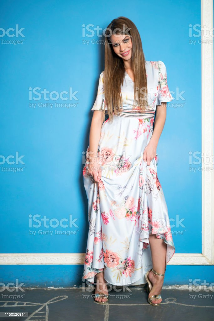 Stylish young beautiful and attractive Caucasian ethnicity woman whit...