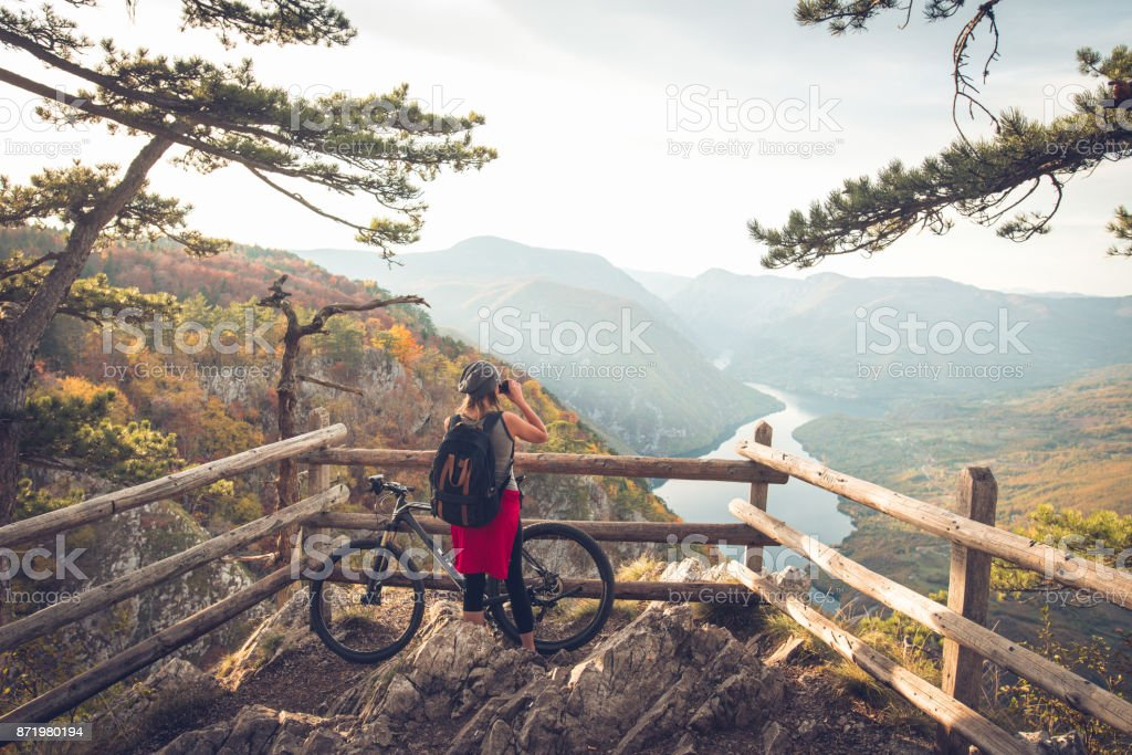 The most beutiful view in the world stock photo