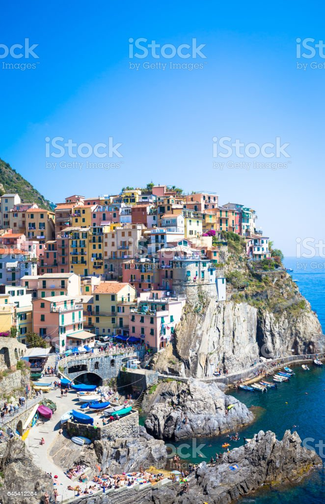 The most eye-catching of Cinque Terre towns - foto stock