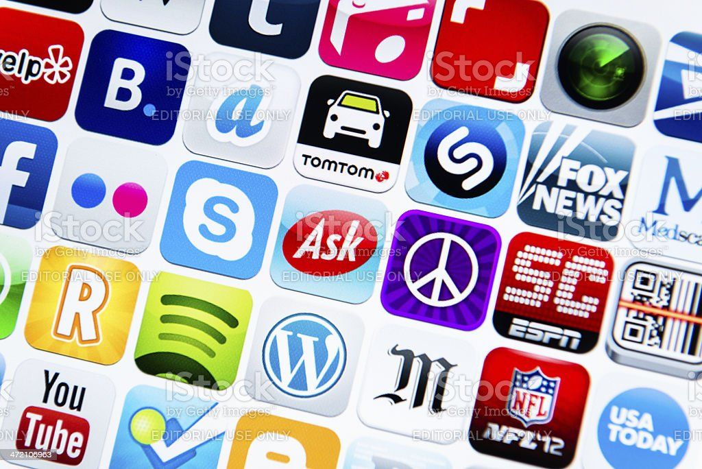 The most famous app on Itunes webstore royalty-free stock photo