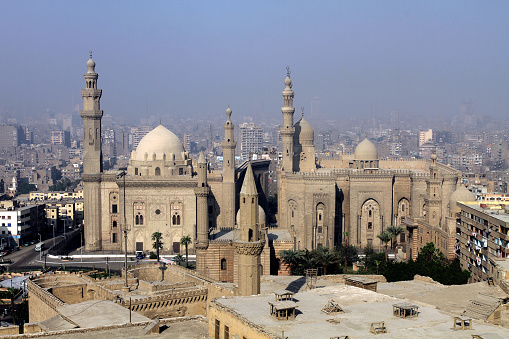 468444004 istock photo The most famous mosque in Cairo. Mosque-Madrassa of Sultan Hassan 1208332068