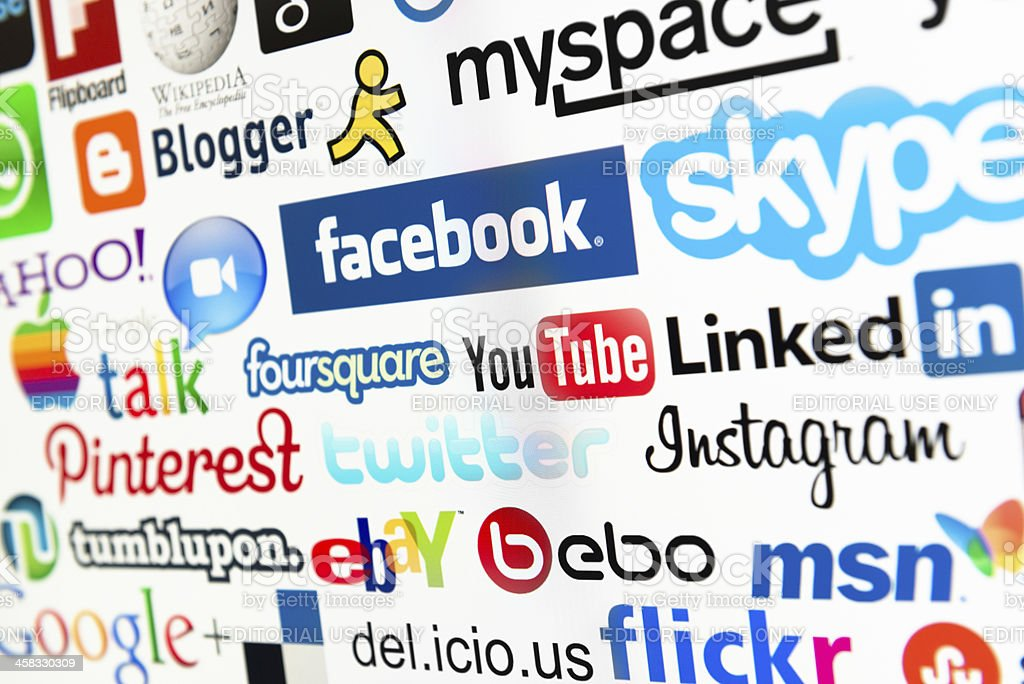 The most famous social media website on web royalty-free stock photo