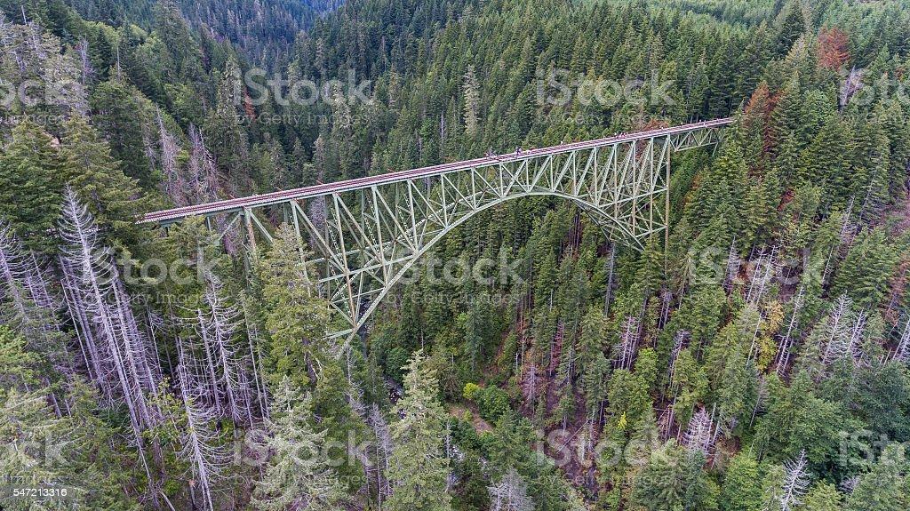 The Most Instagrammed Bridge stock photo