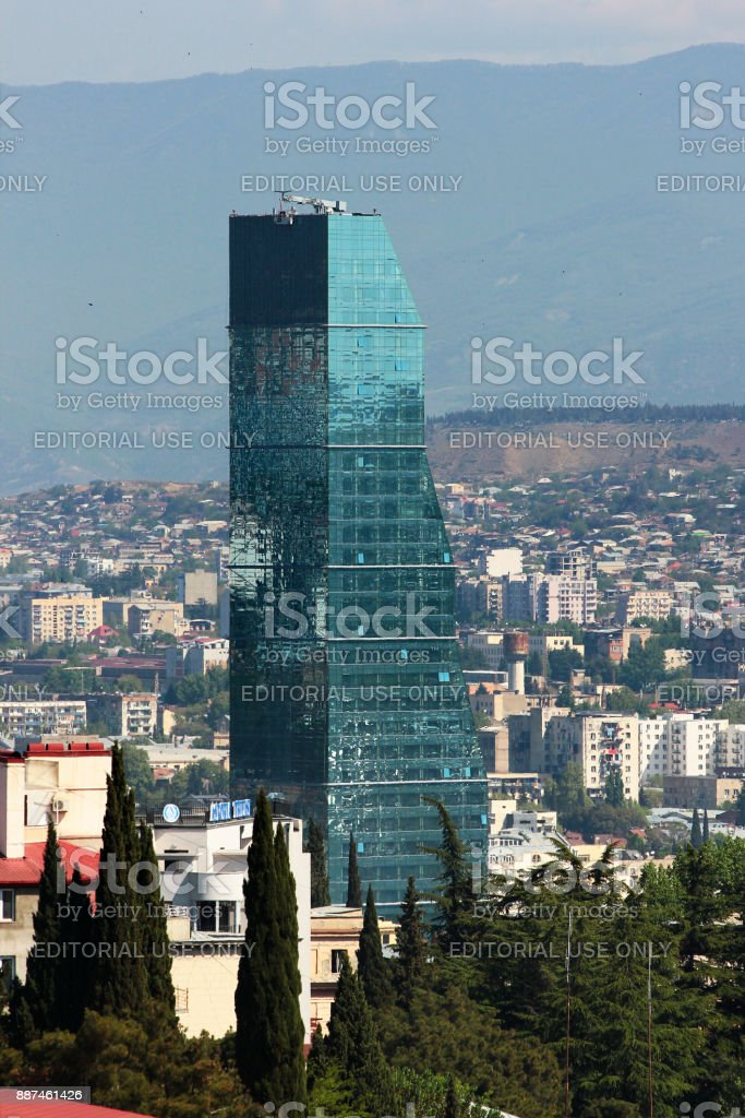 The most modern and luxurious buildings in downtown Tbilisi, Georgia stock photo