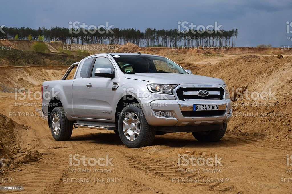 The most popular pick-up in Europe - Ford Ranger stock photo