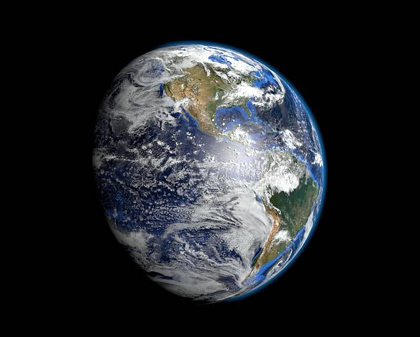 The most realistic earth - America Cloud and land map files come from: http://visibleearth.nasa.gov/view_cat.php?categoryID=1484 satellite view stock pictures, royalty-free photos & images