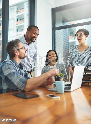 609072850 istock photo The most successful ideas are formulated as a team 609070448