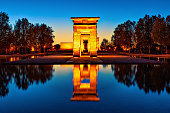 The most unusual attraction in Madrid - The   Temple of Debod. the Parque del Oeste.