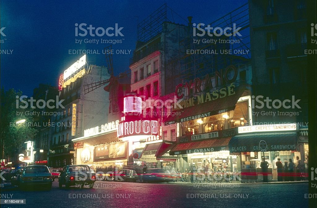 The Moulin Rouge, Paris stock photo