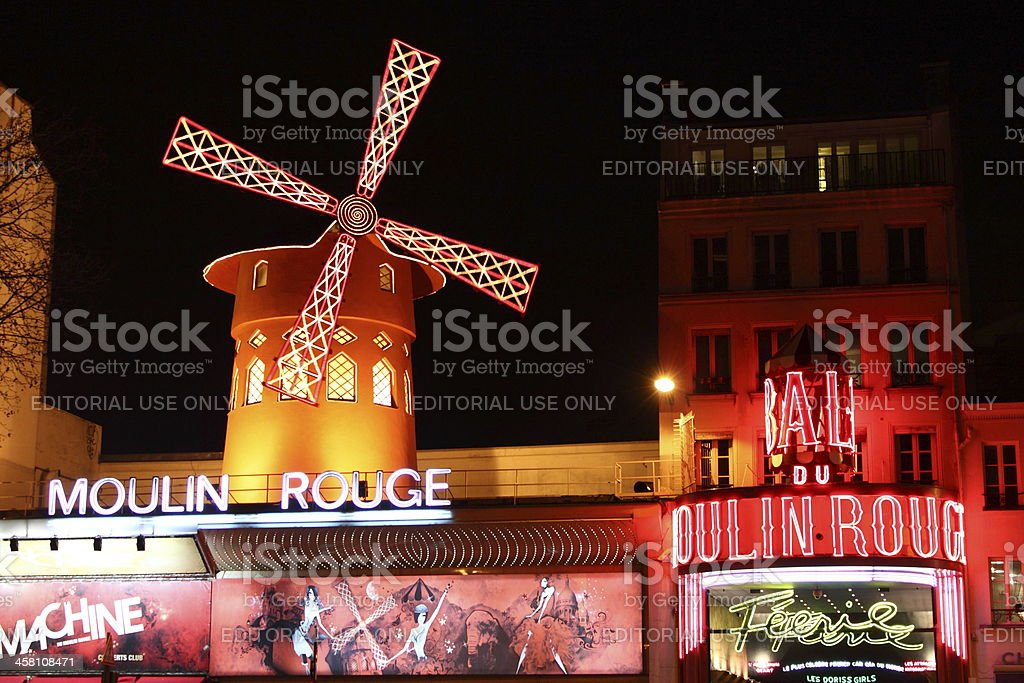 The Moulin Rouge stock photo