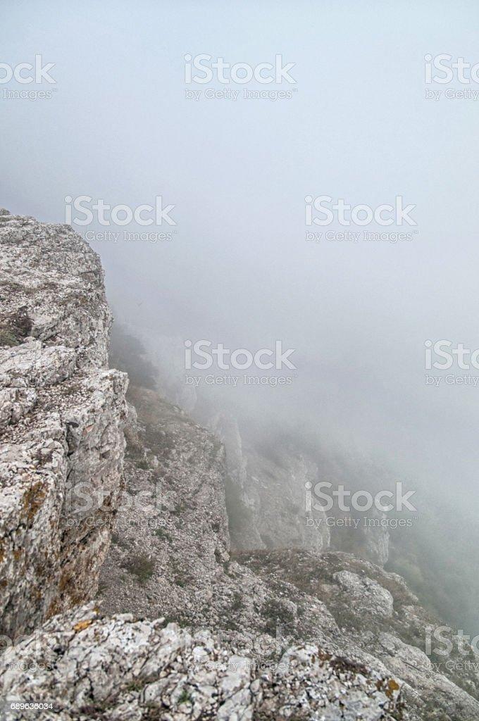 The Mount Ai-Petri over the Black Sea in Crimea, Russia. Ai-Petri is one of the highest mountains in Crimea and tourist attraction. stock photo