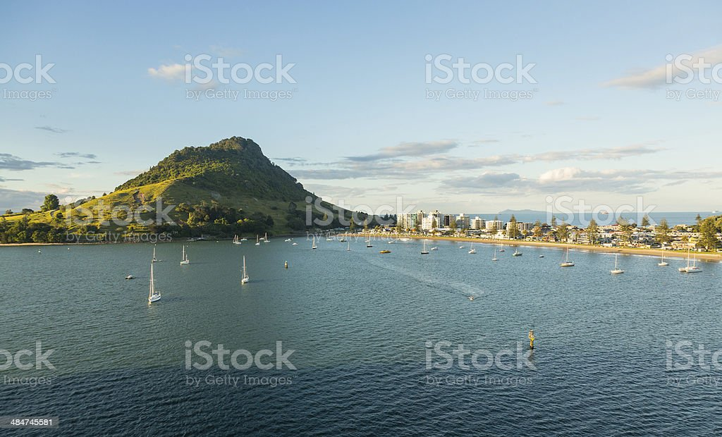 The Mount at Tauranga in NZ stock photo