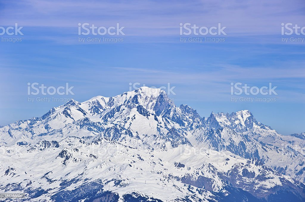 The Mount Blanc royalty-free stock photo