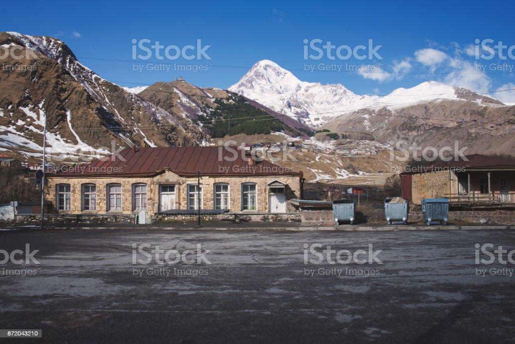 the Mount Kazbek stock photo