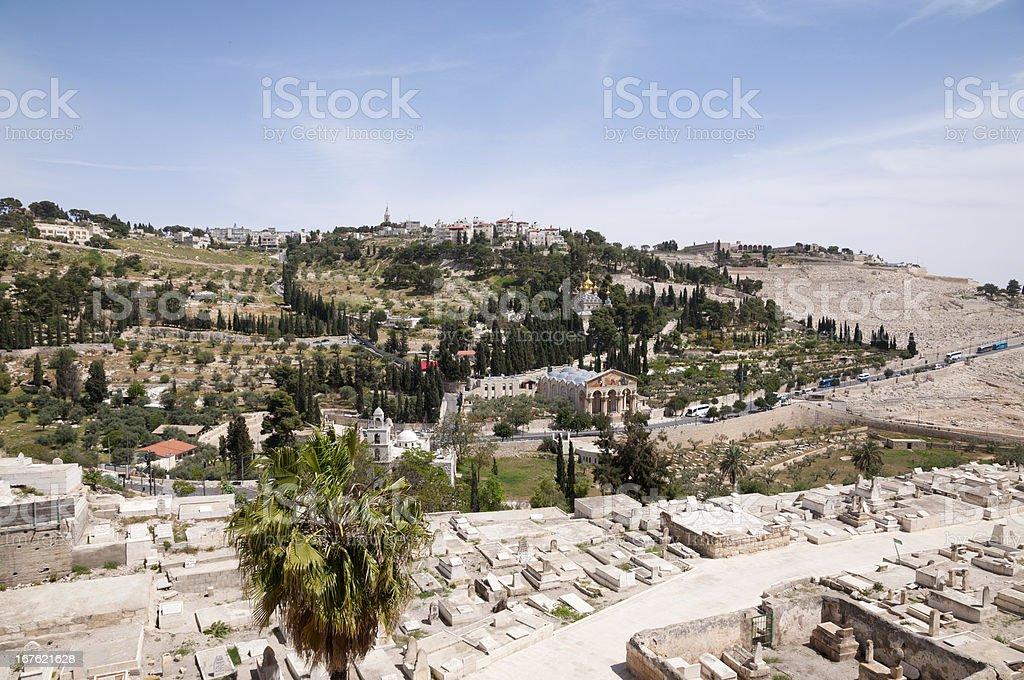 the Mount of Olives, Jerusalem royalty-free stock photo