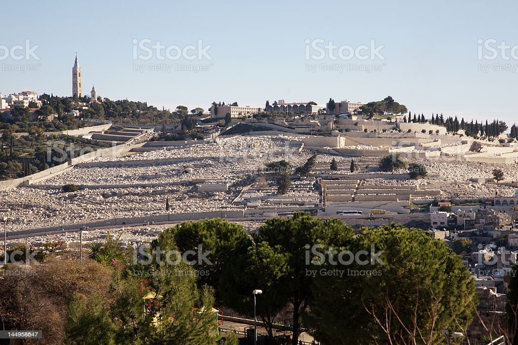 The Mount of Olives stock photo