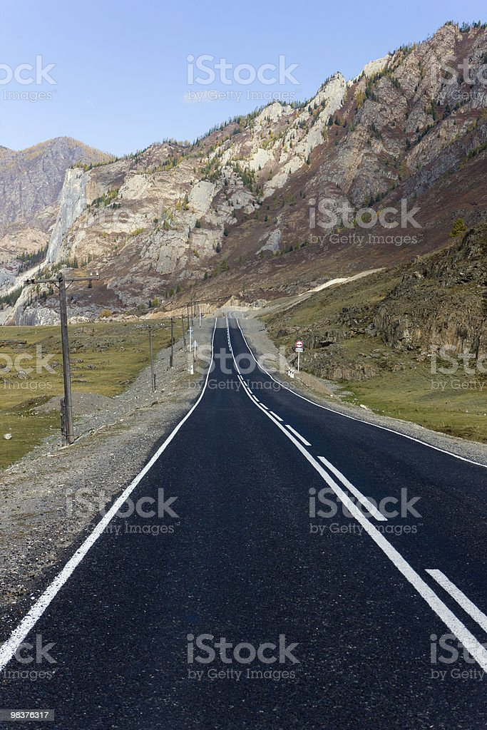 The mountain road royalty-free stock photo