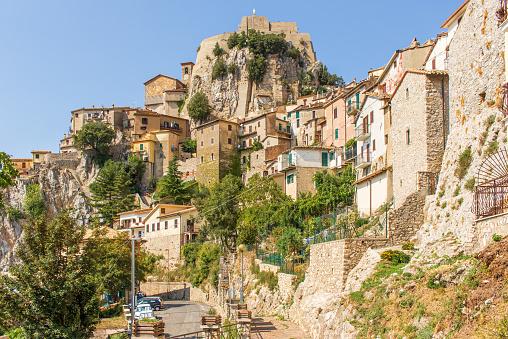 The mountain village of Cervara di Roma, Italy