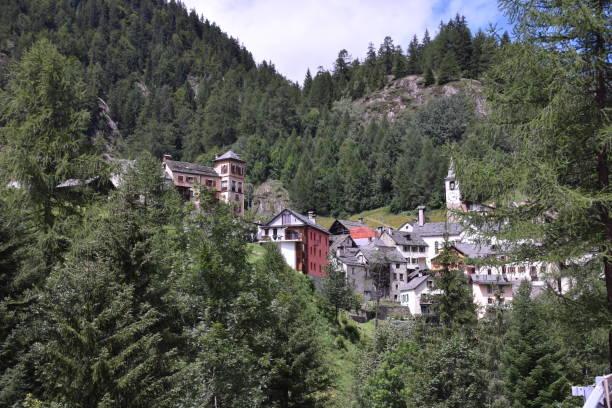The Mountain Village stock photo