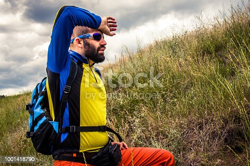 istock The mountaineer rests 1001418790